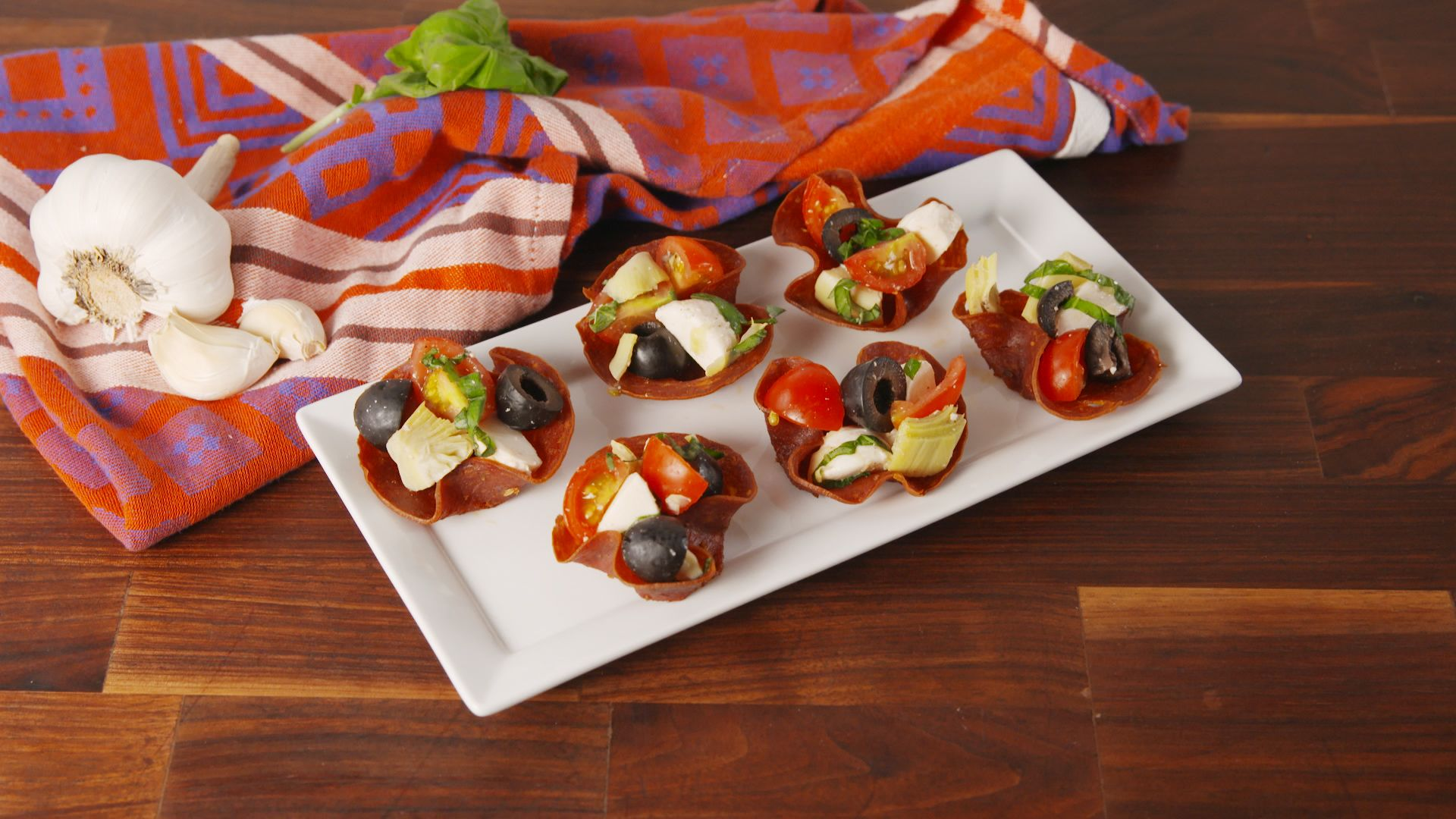 How To Make Low-Carb Antipasto Cups