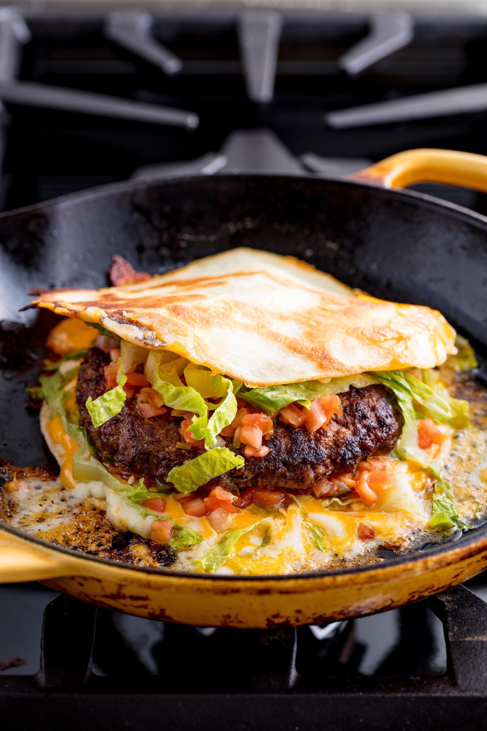 Quesadilla Burger Vertical