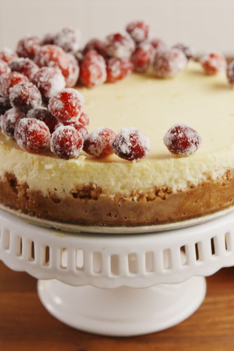 Sparkling Cranberry Cheesecake