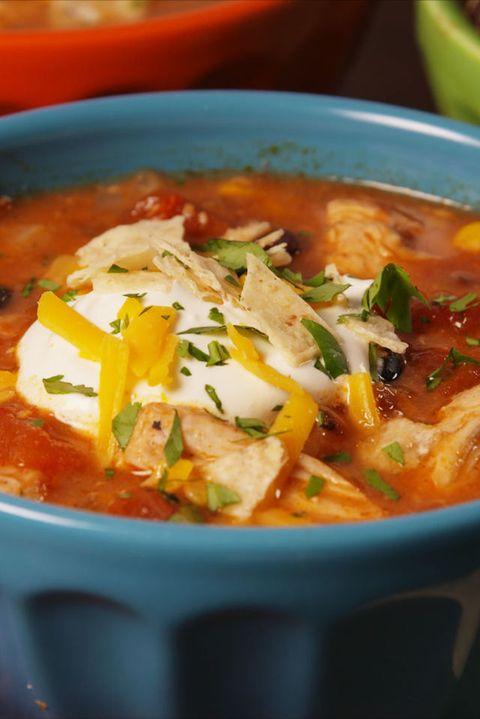 Best Crock Pot Chicken Enchilada Soup Recipe How To Make Crock Pot Chicken Enchilada Soup