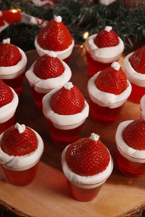 Santa Hat Jell-O Shots Vertical