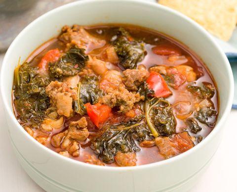 Spicy Turkey Sausage and Kale Chili Horizontal