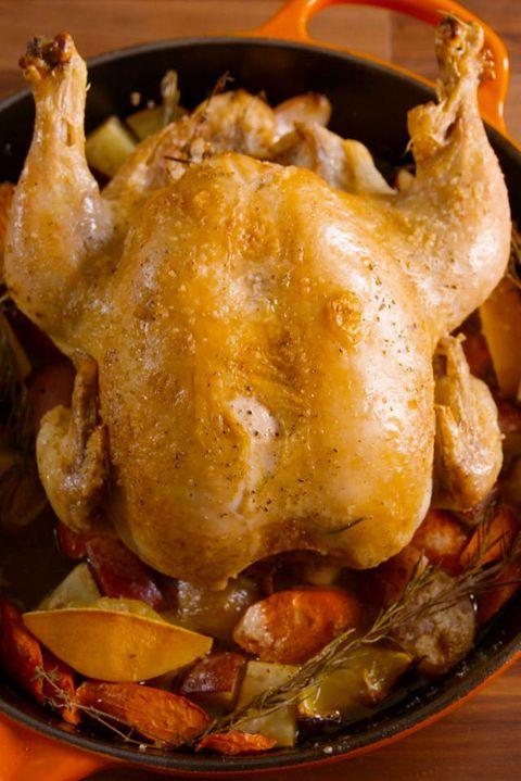 Skillet Roast Chicken Vertical
