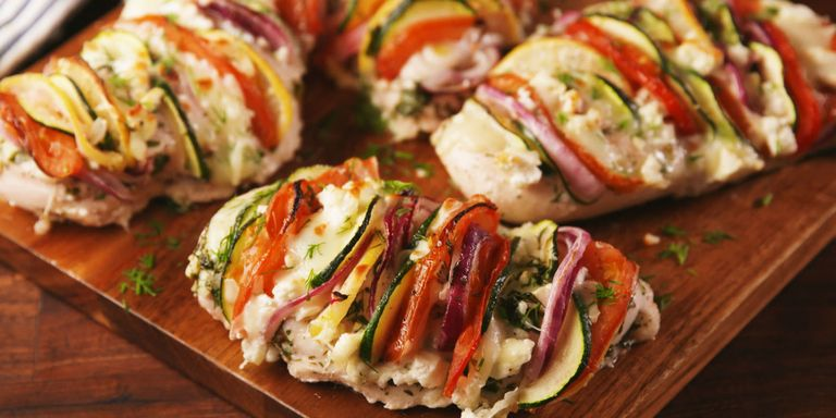 70 easy healthy dinner ideas best recipes for healthy dinners greek stuffed chicken forumfinder Images