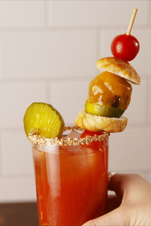 Cheeseburger bloody mary vertical
