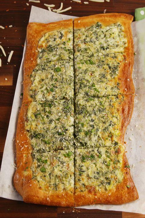 Spinach Artichoke Flatbread Vertical