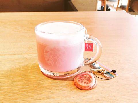 Pink, Drink, Smoothie, Milkshake, Food, Juice, Milk punch, Peach, Cup, Milk,