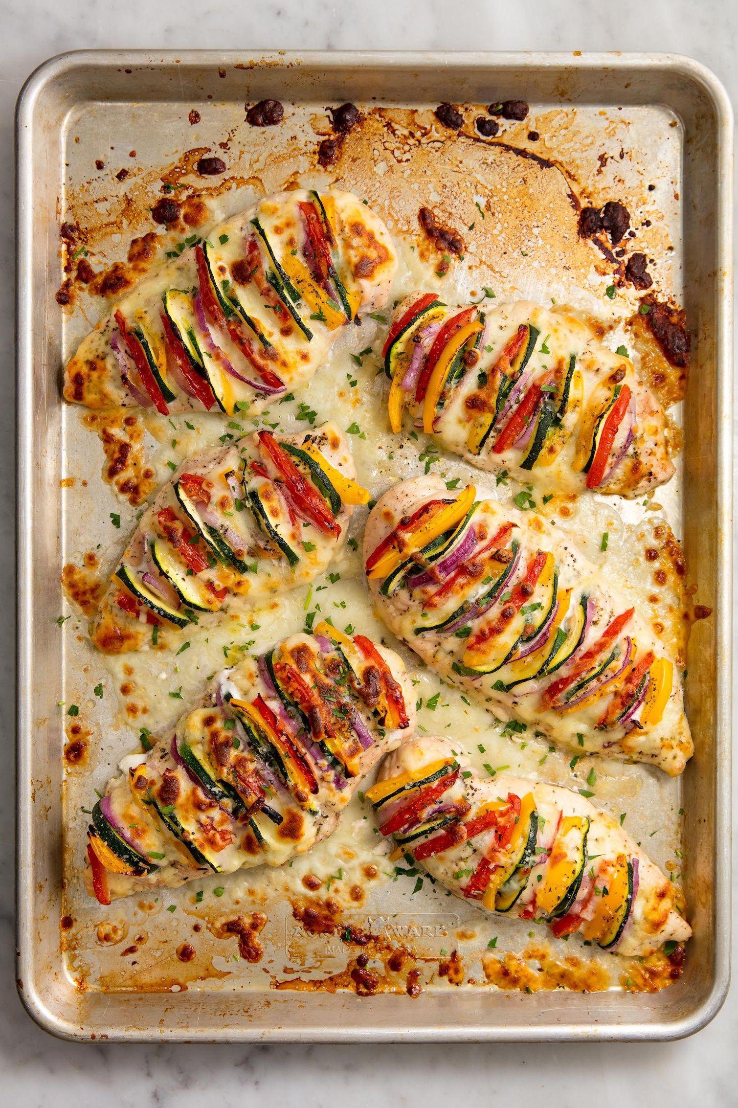 Primavera Stuffed Chicken Vertical