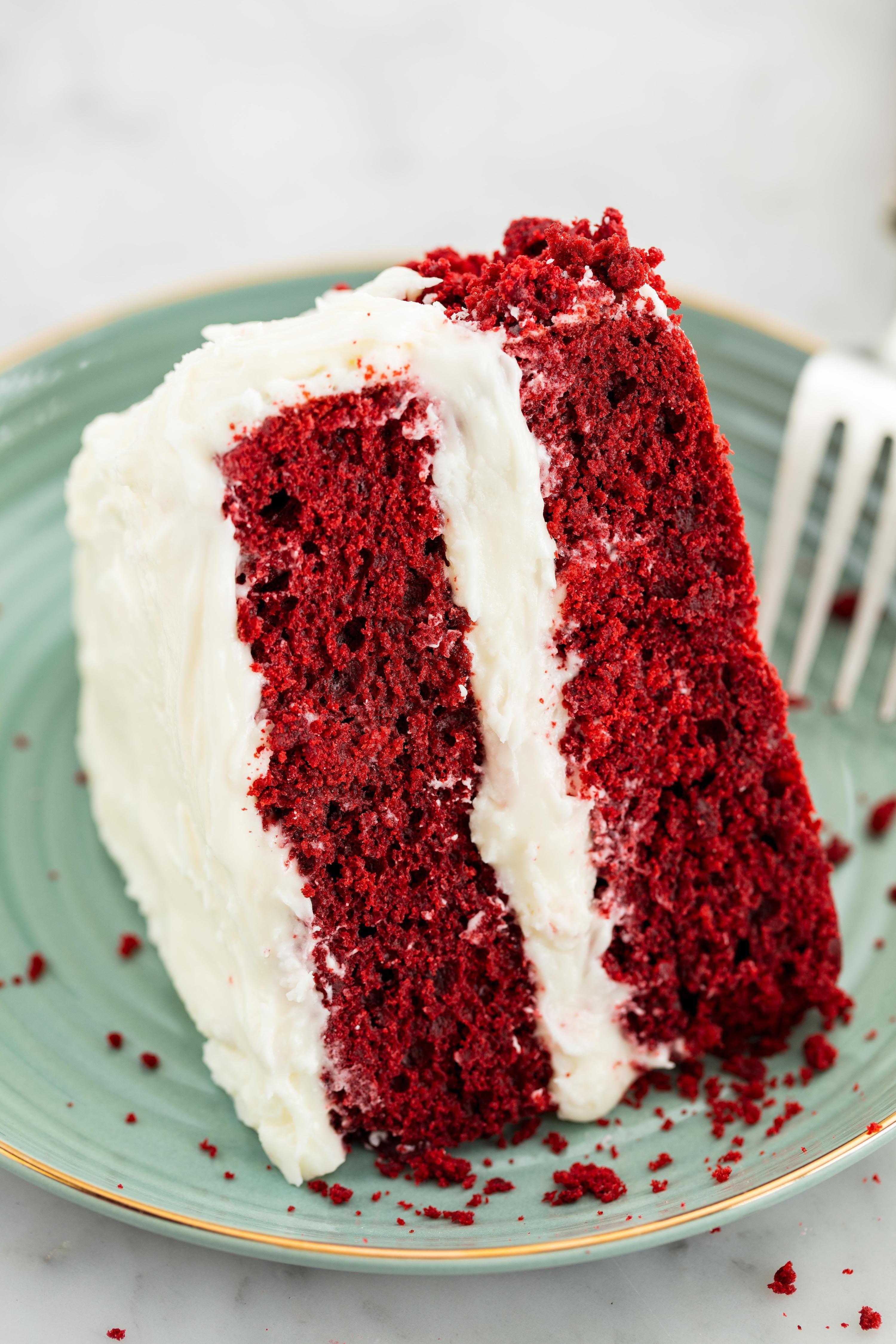 image & Best Homemade Red Velvet Cake Recipe - How to Make Easy Red Velvet Cake