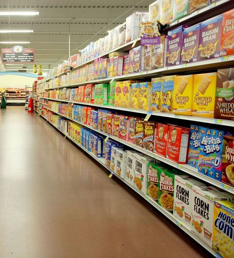 Supermarket, Grocery store, Retail, Aisle, Convenience store, Product, Convenience food, Building, Snack, Prepackaged meal,