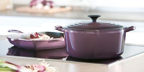 Lid, Purple, Violet, Dishware, Cookware and bakeware, Tableware, Plate, Dutch oven, Serveware, Ceramic,