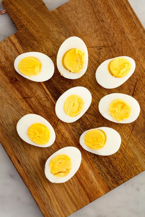 hard boiled eggs vertical