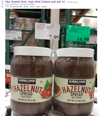 Costco Made Its Own Hazelnut Spread And It's Way Cheaper