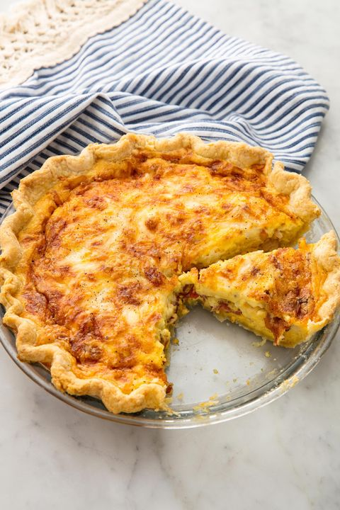 Easy breakfast quiche recipes how to make a quiche delish image ethan calabrese quiche lorraine forumfinder