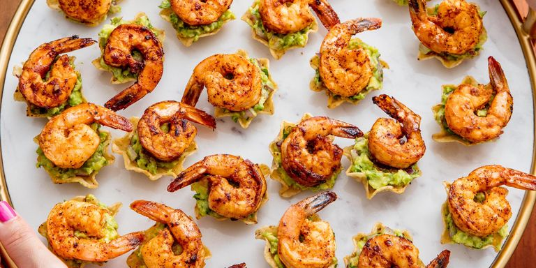 100 easy shrimp recipes how to cook shrimpdelish shrimp tostada bites forumfinder Choice Image
