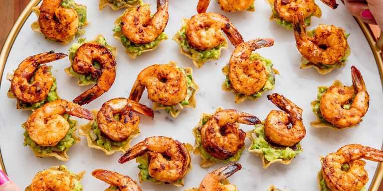 80 easy summer appetizers best recipes for summer party appetizer shrimp tostada bites forumfinder Images