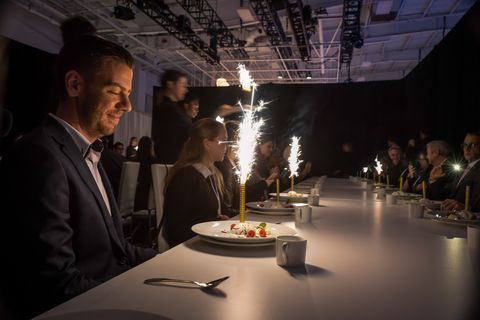 Design, Event, Interaction, Restaurant, Conversation, Photography, Food, Suit, Table, Meal,