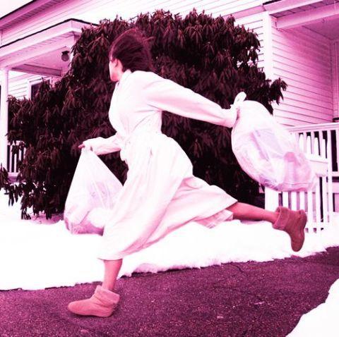 Pink, Footwear, Dance, Magenta, Jumping, Dancer, Illustration,
