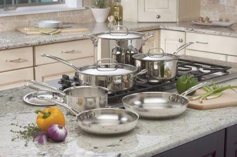 Countertop, Product, Kitchen, Room, Cookware and bakeware, Tableware, Shelf, Furniture, Steel, Metal,