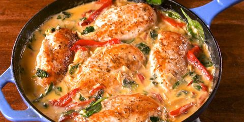 30 best spinach recipes easy dishes with fresh or frozen spinach spinach artichoke chicken forumfinder Gallery