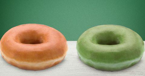 Krispy Kreme Green Donuts