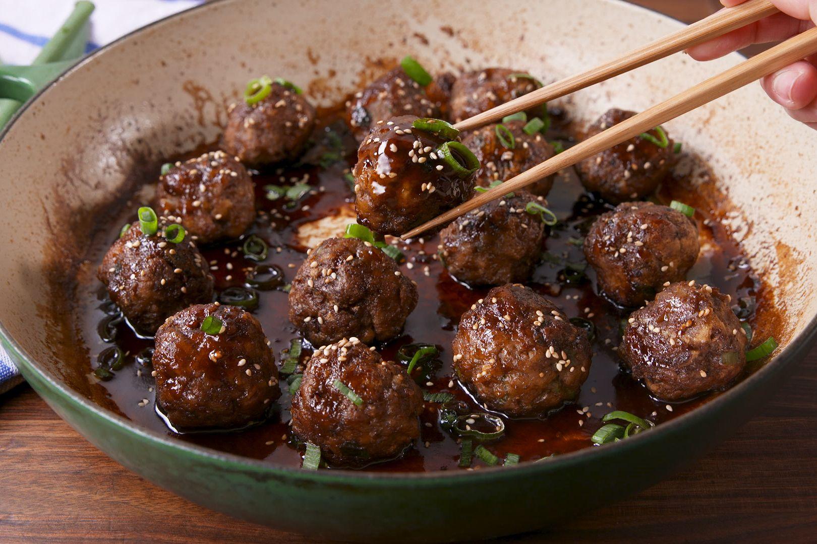 General Tso Meatballs