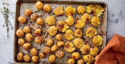 Garlic Smashed Potatoes Horizontal Cookbook