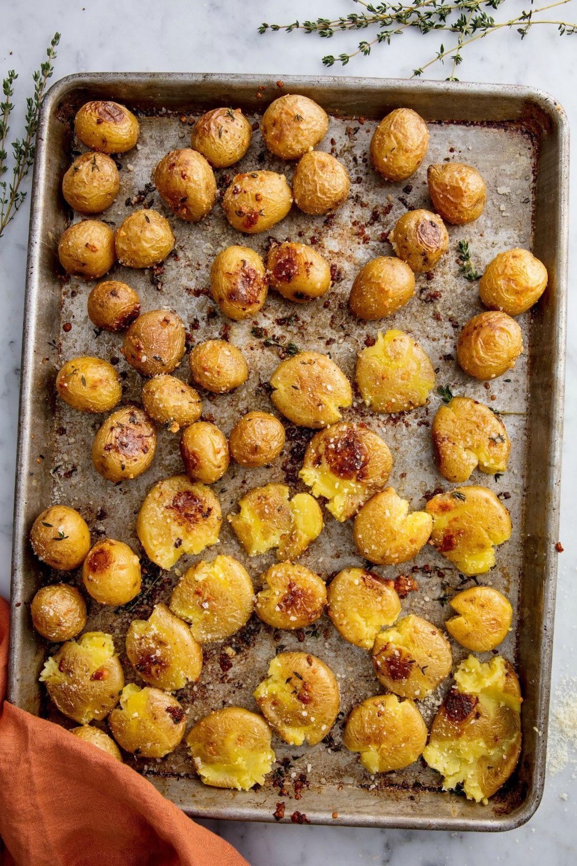 Garlic Smashed Potatoes Vertical