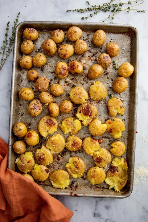 Garlic Smashed Potatoes Vertical
