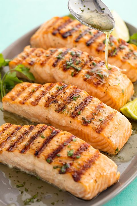 Cilantro Lime Grilled Salmon Vertical