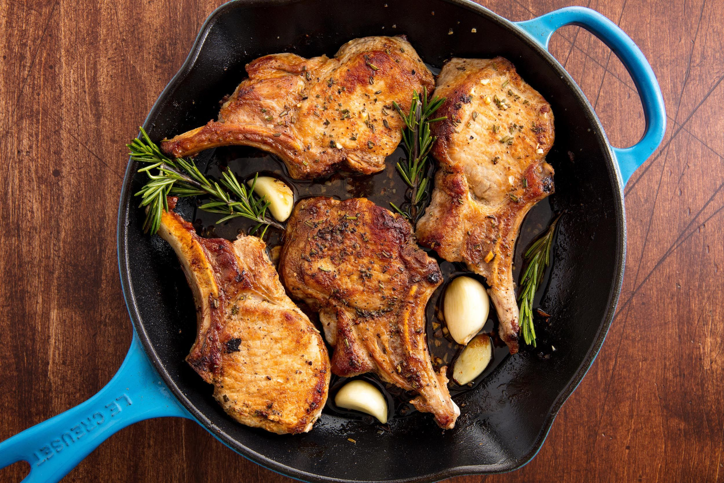 Best Oven Baked Pork Chop Recipe - How to Make Garlic Rosemary ...