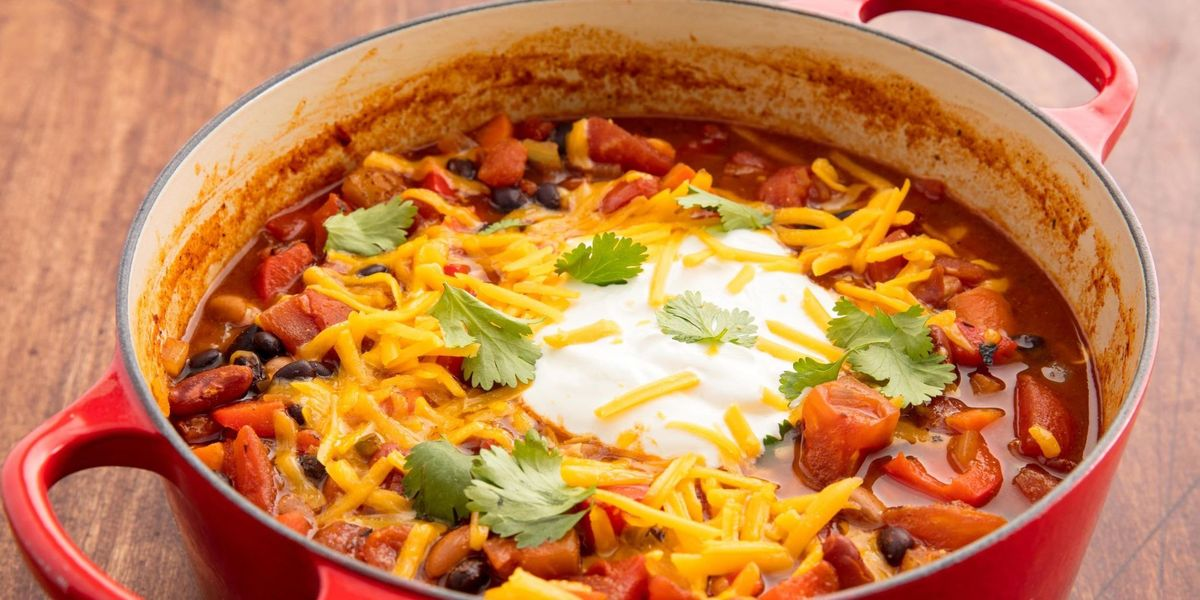 Easy Vegetarian Chili Recipe How To Make Best Vegetarian