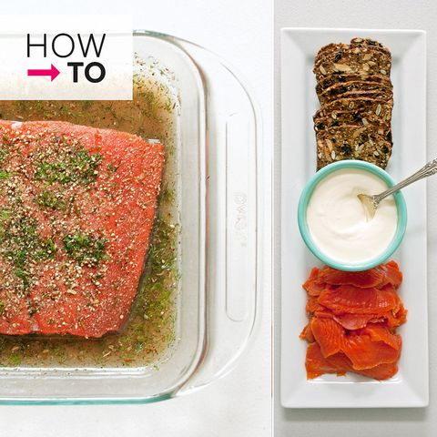 <p>You've procured the salmon, dill, and other accoutrements, but rather than bake or grill the salmon, how about curing a batch of gravlax at home? While a relatively simple process, home curing — and, for that matter, slicing cured salmon — is a culinary adventure many aren't yet acquainted with, so we've broken it down visually to make matters more clear. Follow along with our step-by-step guide to preparing gravlax at home.</p>