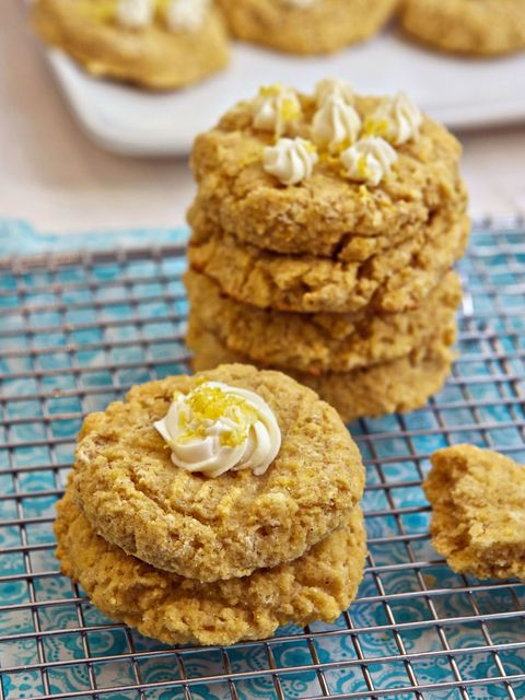 """<p>With their lemon cream cheese frosting, slightly crisp outside, and soft, cake-like inside, these gluten-free cookies taste a lot like dessert—and we mean that in a good way.</p> <p><strong>Get the recipe at <a href=""""http://www.familyfreshcooking.com/2011/03/14/gluten-free-lemon-ricotta-breakfast-cookies-recipe/%20http://www.familyfreshcooking.com/2011/03/14/gluten-free-lemon-ricotta-breakfast-cookies-recipe/"""">Family Fresh Cooking.</a></strong></p>"""