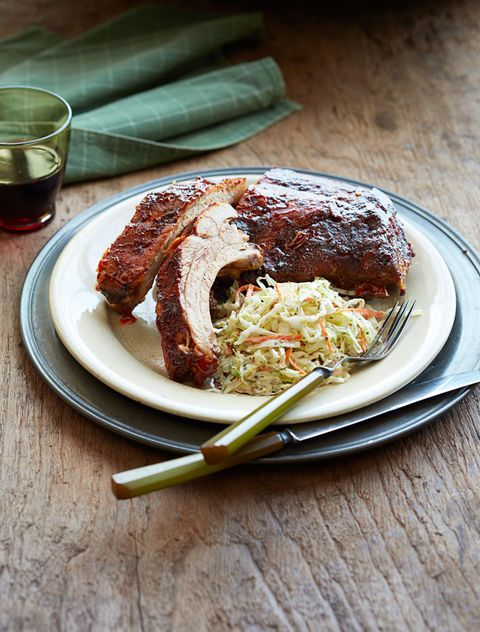 "<p>First coated in a spicy dry rub mixture before being basted with a tangy homemade sauce, these barbecue ribs are a surefire way to please a crowd.</p> <p><strong>Recipe:</strong> <a href=""http://www.delish.com/recipefinder/st-louis-style-baby-back-ribs-recipe-wdy081"" target=""_blank""><strong>3-Napkin Baby Back Ribs</strong></a></p>"