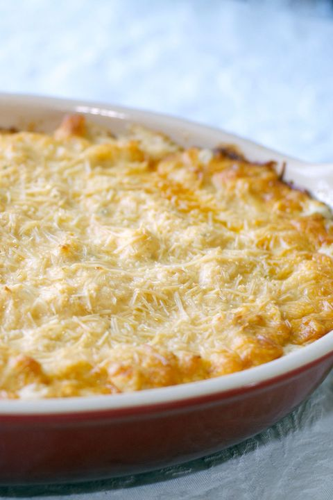 """<p>A hardy dip dish is absolutely necessary for any Super Bowl party, and this may be the best we've tried yet. Not only does the mere sight of it make our mouths water, but the thought of diving into a fresh-from-the-oven, tangy platter of ranch, blue cheese, and seasoned chicken is just too tempting to ignore.</p> <p>Get the recipe at <a href=""""http://www.musingsofahousewife.com/2012/12/gluten-free-buffalo-chicken-dip.html"""">Musings of a Housewife</a>.</p>"""