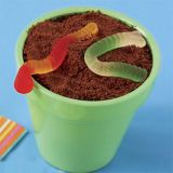"Don't run away just yet — this isn't a pot of creepy crawlers, but rather crumb-and-gummy-worm-covered pudding!<br /><br  /><b>Recipe: </b><a href=""/recipefinder/garden-goodie-dirt-recipe""target=""_new""><b>Garden Goodie Dirt Pudding</b></a>"