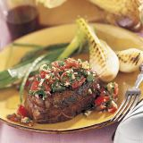 "<p>Juicy steaks taste even better with our flavor-packed salsa. Looking for a new vegetable idea? Try grilling young onions right along with the meat.</p> <p><strong>Recipe:</strong> <a href=""../../../recipefinder/filet-mignon-horseradish-salsa-2507"" target=""_blank""><strong>Filet Mignon with Horseradish Salsa</strong></a></p>"