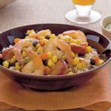 <p>When you're pressed for time, turn to this recipe, which has terrific texture and flavor and couldn't be easier to make, using fully-cooked chorizo sausage, a frozen vegetable blend and frozen honey-chipotle shrimp.</p>