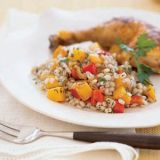 "<p>Nutty pearl barley is lightly toasted and then simmered until just tender in a mix of chicken broth and chopped butternut squash, onion and red pepper that's seasoned with sage, thyme and grated lemon zest.</p><p><b>Recipe:</b> <a href=""/recipefinder/barley-squash-pilaf-recipe-121236"" target=""_blank""><b>Barley-Squash Pilaf</b></a></p>"