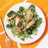 "<p>This healthy main dish salmon and barley salad will delight with every dill-and-parsley-infused bite.</p><p><b>Recipe:</b> <a href=""/recipefinder/herb-roasted-salmon-barley-salad-recipe-wdy0912"" target=""_blank""><b>Herb Roasted Salmon and Barley Salad</b></a></p>"