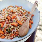 "<p>Where this cooking rule comes from, we don't know, but it's a rule many home cooks seem to follow religiously. Some seem to think that salting the beans during the cooking process will make them harder to cook or will prolong the already lengthy process, but it's just not true. And seasoning beans a little at the beginning or during cooking, and a little at the end, will definitely produce a pot of legumes that is much more flavorful. Adding salt when it has time to penetrate the beans and infuse them with flavor throughout, rather than just sprinkling some on top at the end, will ensure even seasoning, so that no one bite tastes too salty or too bland.</p><p><strong>Recipe:</strong> <a href=""http://www.delish.com/recipefinder/chickpeas-tomatoes-carrots-recipe-fw1010"" target=""_blank""><strong>Chickpeas with Tomatoes and Carrots</strong></a></p>"