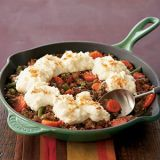 "<p>Traditional shepherd's pie can take at least an hour to prepare; this version is ready in just 18 minutes thanks to frozen mixed veggies, store-bought gravy and ready-made mashed potatoes.</p> <p><strong>Recipe: <a href=""http://www.delish.com/recipefinder/skillet-shepherds-pie-122119"" target=""_blank"">Skillet Shepherd's Pie</a></strong></p>"