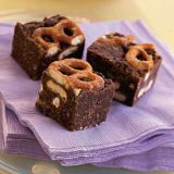 "<p>Quell all cravings in one fell swoop with these brownies filled with semisweet and unsweetened chocolate, crushed saltine crackers, condensed milk and bite-size pretzels. Plus, no baking required—all you need is a microwave and a fridge.</p>  <p><strong>Recipe:</strong> <a href=""http://www.delish.com/recipefinder/sweet-salty-pretzel-brownies-121546""><strong>Sweet & Salty Pretzel Brownies</strong></a></p>"