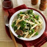 "<p>Sweet Italian sausage and spicy broccoli rabe are a tasty combination in penne pasta, ready in less than 30 minutes.</p><p><a href=""http://www.goodhousekeeping.com/recipefinder/penne-sausage-broccoli-rabe-recipe"" target=_>Get the recipe!</a></p>"