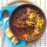 "<p>This recipe makes eight one-cup servings, which along with a hearty side like homemade cornbread or cheesy potatoes, makes enough for another stick-to-your-ribs meal for later in the week.</p><p><b>Recipe:</b> <a href=""http://www.delish.com/recipefinder/30-minute-chili-recipe-mslo0212""><b>30-Minute Chili</b></a></p>"