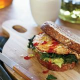 "<p>""I usually make these sandwiches on days when there isn't enough time to sit down for a proper breakfast,"" says Sera Pelle, who wraps them in parchment paper for her kids to eat on the go.</p><p><b>Recipe: </b><a href=""/recipefinder/egg-sandwich-mustard-greens-avocado-recipe-fw0312"" target=""_blank""><b>Egg Sandwich with Mustard Greens and Avocado</b></a></p>"