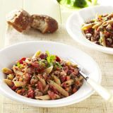 "<p>This classic pasta dish is made a little healthier by using lean beef and substituting whole-grain penne for regular pasta.</p><p><b>Recipe:</b> <a href=""/recipefinder/beef-ragu-recipe-ghk0511"" target=""_blank""><b>Beef Ragu</b></a></p>"
