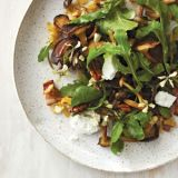 "<p>At Farmhaus in St. Louis, chef Kevin Willmann likes using the mushrooms his local cultivators bring in: for this salad, he says, ""Oyster mushrooms are the awesomest."" To roast them, he makes a delicious garlic oil&#x3B; save leftover oil for other uses. </p><br />