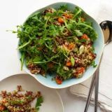 "<p>In this fluffy salad, Yotam Ottolenghi blends South American quinoa with nutty Camargue red rice from southern France. The salad gets a fruity sweetness from orange juice and zest and is delicious alongside roast chicken.</p> <p><b>Recipe:</b> <a href=""http://www.delish.com/recipefinder/red-rice-quinoa-salad-orange-pistachios-recipe-fw0511"" target=""_blank""><b>Red Rice and Quinoa Salad with Orange and Pistachios</b></a></p>"